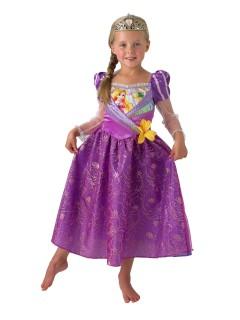 Disney Rapunzel Prinzessin Kinderkostüm mit Diadem Lizenzware lila-rosa