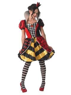 Disney Alice im Wunderland Herzkönigin Damenkostüm Lizenzware bunt