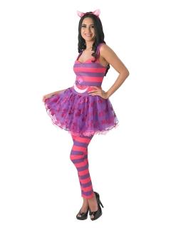 Disney Alice im Wunderland Grinsekatze Damenkostüm Lizenzware pink-lila