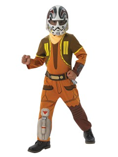 Star Wars Rebels™ Ezra Kinderkostüm Lizenzware braun-orange