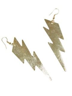 Ohrringe Ohrhänger Blitze gold