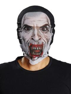 Blutige Vampir Maske Halloween weiss-schwarz-rot