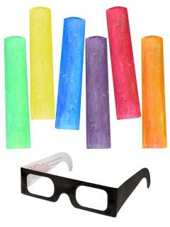 3D Malkreide mit 3D-Brille Mal-Set 7-teilig bunt