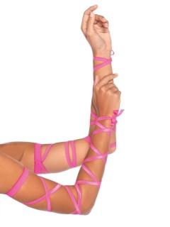 Lange Armbänder Handschuhe pink