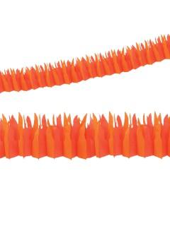 Flammen Girlande Party-Deko orange 182x20cm