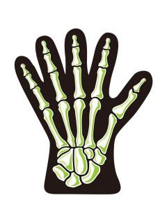 Skelett-Hand Trick or Treat Beutel weiss-schwarz 10 Stück