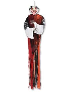 Fieser Clown Halloween Party-Deko bunt 155cm