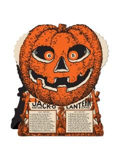 Kürbis-Glücksrad Halloween Party-Spiel orange 23x19cm