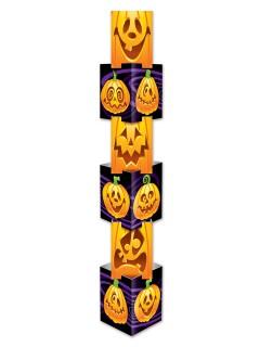 Grinsende Kürbisse Halloween Raumdeko orange 171x30cm
