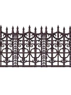 Barocker Zaun Halloween Wanddeko-Folie schwarz 9,1mx61cm