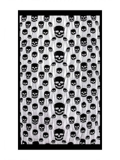 Schauriger Totenkopf Vorhang Halloween Türdeko schwarz 1x2m