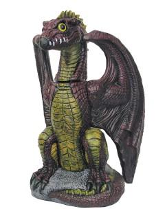 Gefährlicher Drache Deko-Figur bunt 51cm