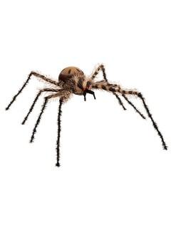 Riesenspinnen-Dekoration Halloween-Deko schwarz-braun 90cm