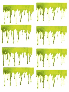 Zombie Blutspuren Halloween Fensterdeko-Set 8-teilig grün 45x27cm