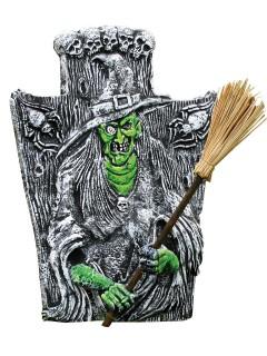 Friedhof Grabstein Hexe Halloween Party-Deko grau-grün 40,5x46cm