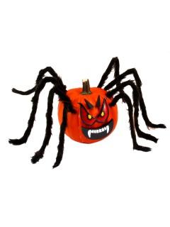 Fiese Kürbis-Spinne Halloween Deko-Set rot-schwarz 13-teilig
