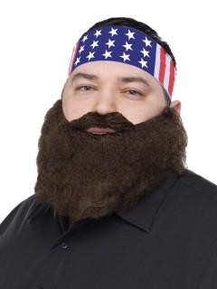 USA Bandana mit Bart braun-bunt