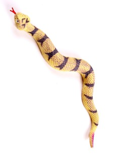 Gefährliche Schlange Party-Deko gelb 41cm