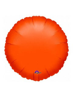 Folien-Luftballon Halloween Party-Deko orange 45cm