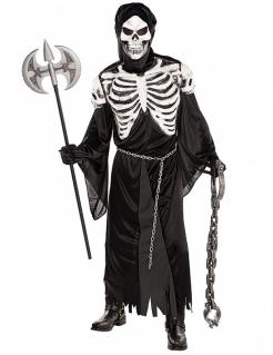 Unheimliches Skelett Halloween Kostüm schwarz-weiss