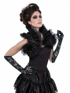 Gothic Bolero mit Rüschen schwarz