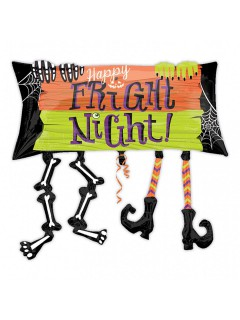Fright Night Folien-Luftballon Halloween Party-Deko bunt 83x76cm