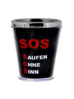 Sprüche Schnapsglas SOS Saufen ohne Sinn bunt 40ml