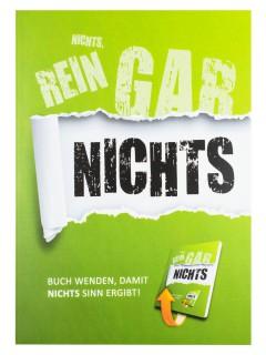 Notizbuch Nichts Rein Gar Nichts Geschenkidee grün 15x21cm
