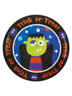 Trick or Treat Monster Pappteller Halloween Party-Deko bunt 23cm 8 Stück