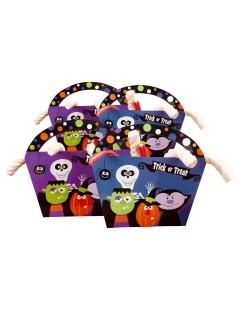 Trick or Treat Taschen Halloween Party-Deko bunt 4 Stück 20x22x4,3cm
