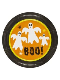 Geister Gespenster Pappteller Halloween Party-Deko 8 Stück bunt 23cm