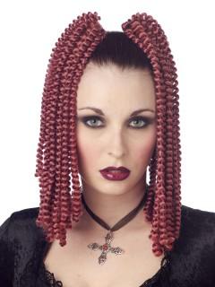 Gothic Spiral-Locken Haarteile rotbraun 2 Stück