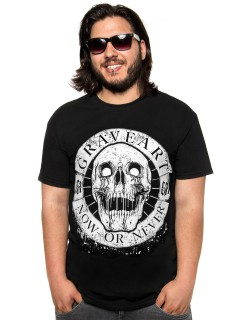 GraveArt-Shirt Now or Never T-Shirt schwarz-weiss