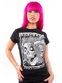 GraveArt-Damenshirt Athenas Curse Girlie-T-Shirt schwarz-weiss