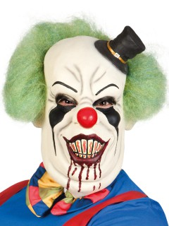 Psycho Clown Halloween-Maske weiss-bunt