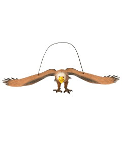 Deko-Adler mit Sound braun 35x14x7,5cm