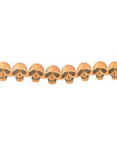 Totenkopf-Girlande Halloween-Deko Skulls beige 300x18cm
