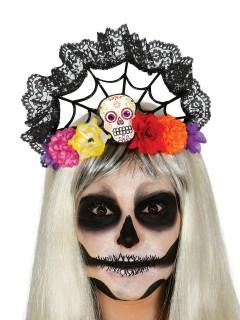 Tag der Toten Dia de los Muertos Sugar Skull Diadem bunt