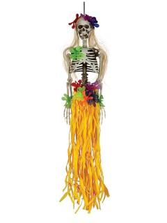 Hawaii-Skelett Halloween Party-Deko weiss-bunt 90cm