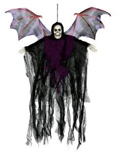 Fliegender Dämon Halloween-Hängedeko schwarz-lila 50cm