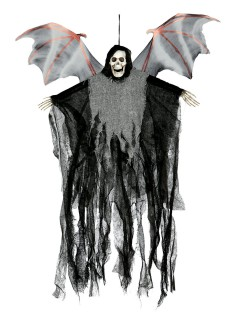 Fliegender Dämon Halloween-Hängedeko schwarz-grau 50cm