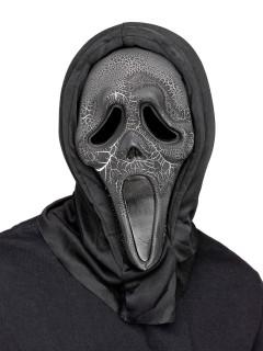 Scream Halloween-Maske Ghost Face mit Leuchteffekt grün-schwarz
