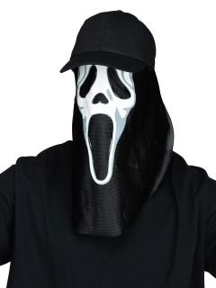 Scream Halloween-Basecap mit Maske Ghost Face schwarz-weiss