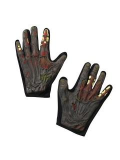 Skelett-Zombie Halloween-Handschuhe schwarz-grau