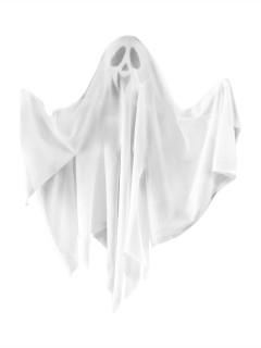Lachender Geist Halloween-Hängedeko Gespenst weiss 50cm