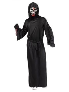 Blutender Sensenmann Halloween-Kostüm Skelett schwarz