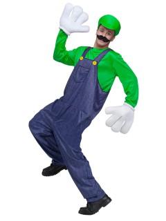 Retro Videospiel Kostüm Klempner grün