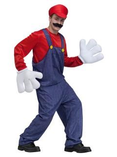Retro Videospiel Kostüm Klempner rot