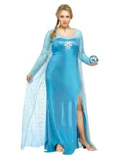 Eiskönigin Märchen Damenkostüm übergrössen hellblau