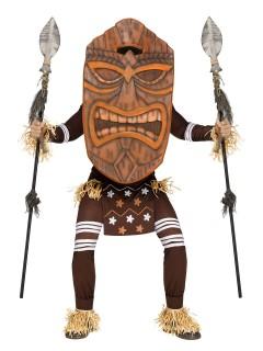 Tiki Krieger Hawaii-Kostüm braun